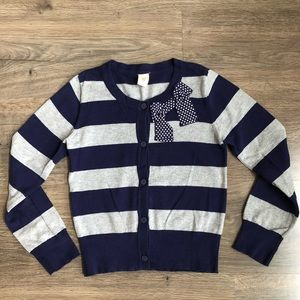 Old Navy striped cardigan sweater.